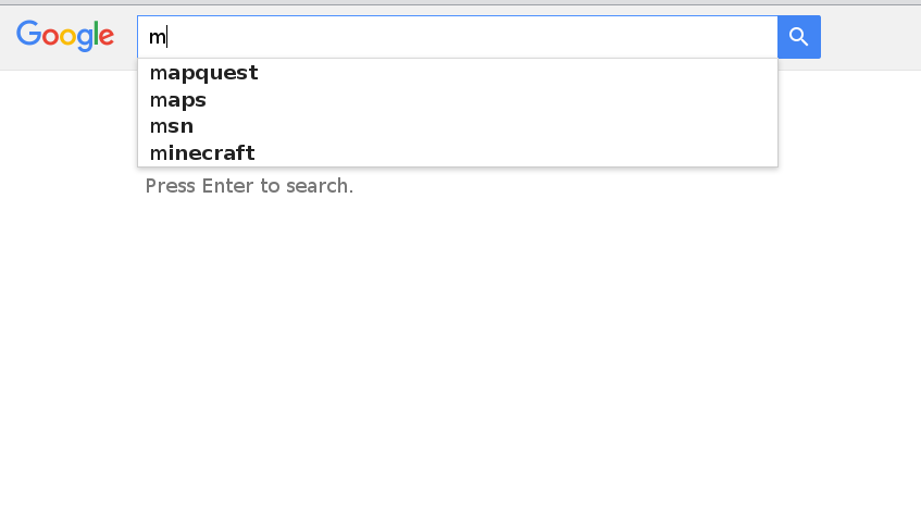When I Type A Search Phrase, Why Does It Appear In My